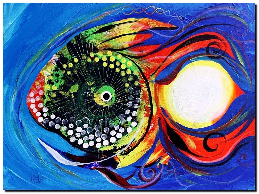 Firefly Fish  Modern Abstract Fish Art Artwork Paintings J Vincent Scarpace