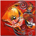 Noisemaker Fish  Modern Abstract Fish Art Artwork Paintings J Vincent Scarpace
