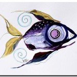 Scarpace Fish   Modern Abstract Fish Art Artwork Paintings J Vincent Scarpace