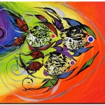 Ten Fish  Modern Abstract Fish Art Artwork Paintings J Vincent Scarpace