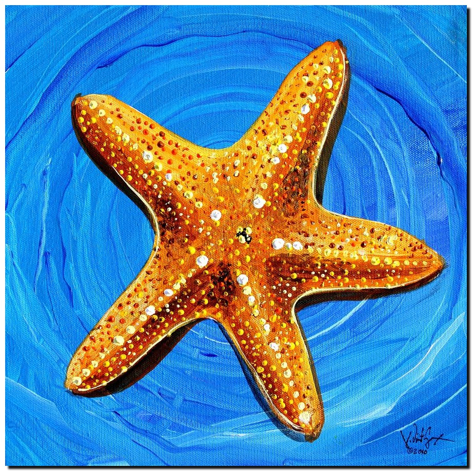 Star Fish Star Bright  Modern Abstract Fish Art Artwork Paintings J Vincent Scarpace
