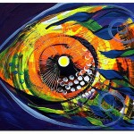 Fire Fish   Modern Abstract Fish Art Artwork Paintings J Vincent Scarpace