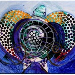 Sea Turtle Even  Modern Abstract Fish Art Artwork Paintings J Vincent Scarpace