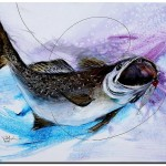 Abstract Speckled Trout  Modern Abstract Fish Art Artwork Paintings J Vincent Scarpace