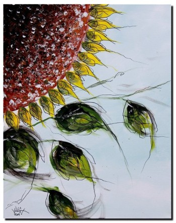 Sunflower Fish   Modern Abstract Fish Art Artwork Paintings J Vincent Scarpace