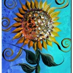 Sunflower Solstice  Modern Abstract Fish Art Artwork Paintings J Vincent Scarpace