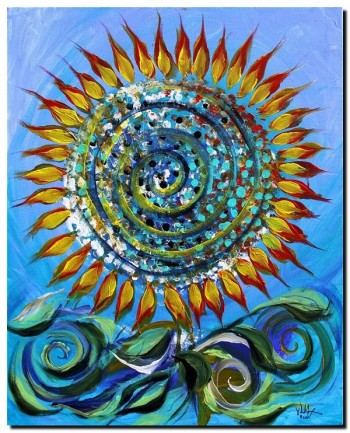 Wind and Fire  Modern Abstract Fish Art Artwork Paintings J Vincent Scarpace