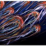 Abstract Dusk  Modern Abstract Fish Art Artwork Paintings J Vincent Scarpace