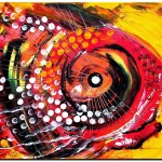 Abstract Lion Fish  Modern Abstract Fish Art Artwork Paintings J Vincent Scarpace