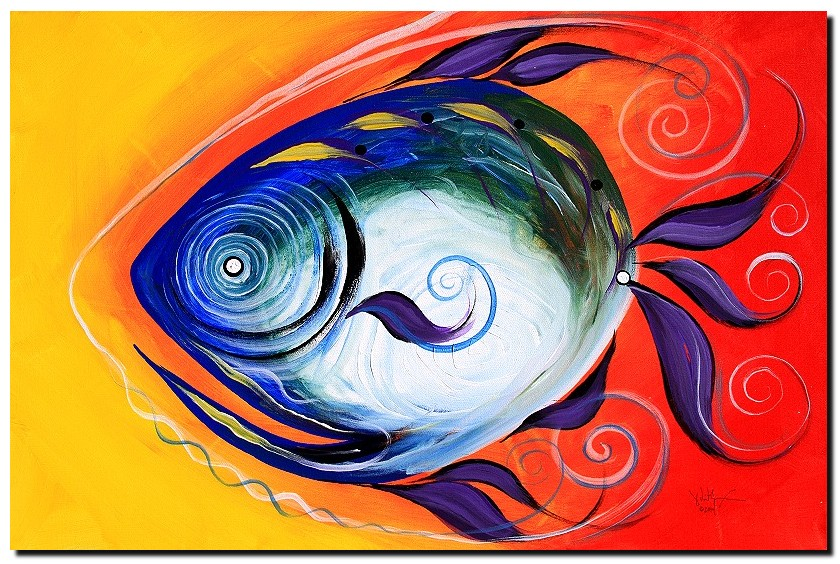 Firefish  Modern Abstract Fish Art Artwork Paintings J Vincent Scarpace