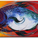 Mediterranean Fish  Modern Abstract Fish Art Artwork Paintings J Vincent Scarpace