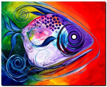 Perfection  Modern Abstract Fish Art Artwork Paintings J Vincent Scarpace