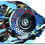 Rare Blue Snapper  Modern Abstract Fish Art Artwork Paintings J Vincent Scarpace