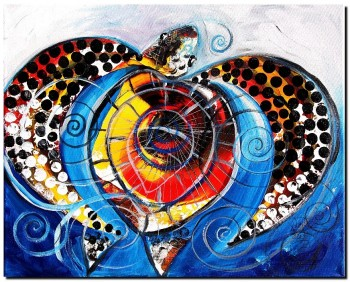 Sea Swirl Turtle  Modern Abstract Fish Art Artwork Paintings J Vincent Scarpace