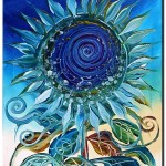 Sunflower God  Modern Abstract Fish Art Artwork Paintings J Vincent Scarpace