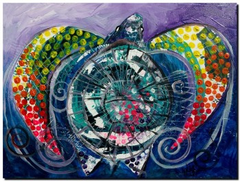 World Turtle   Modern Abstract Fish Art Artwork Paintings J Vincent Scarpace