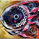 Yep Fish  Modern Abstract Fish Art Artwork Paintings J Vincent Scarpace