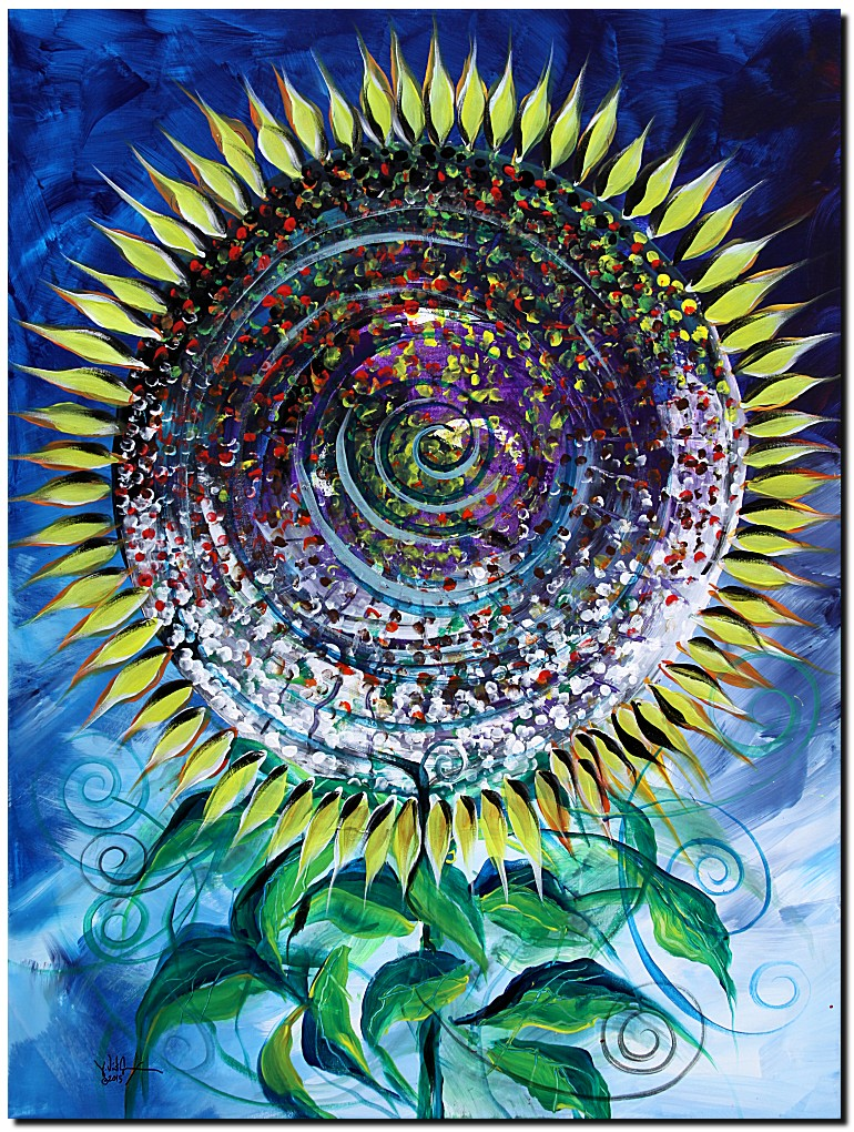Girasol Gigante  Modern Abstract Fish Art Artwork Paintings J Vincent Scarpace