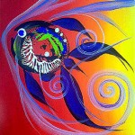 Skittle Fish  Modern Abstract Fish Art Artwork Paintings J Vincent Scarpace