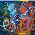 Abstract Octopus   Modern Abstract Fish Art Artwork Paintings J Vincent Scarpace