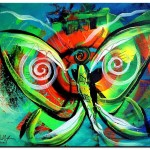 Butterfly Love  Modern Abstract Fish Art Artwork Paintings J Vincent Scarpace