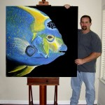 Caribbean Queen  Modern Abstract Fish Art Artwork Paintings J Vincent Scarpace