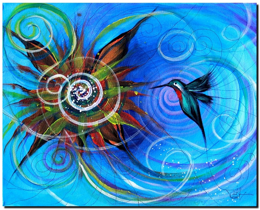 Chaotic Calm  Modern Abstract Fish Art Artwork Paintings J Vincent Scarpace