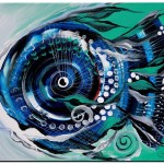 Half smile Break the Ice Fish  Modern Abstract Fish Art Artwork Paintings J Vincent Scarpace