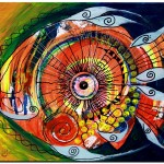 Idiosyncratic  Modern Abstract Fish Art Artwork Paintings J Vincent Scarpace