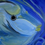 Loose Naso Tang  Modern Abstract Fish Art Artwork Paintings J Vincent Scarpace