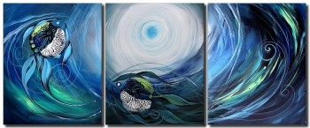 Moonlight for Two  Modern Abstract Fish Art Artwork Paintings J Vincent Scarpace