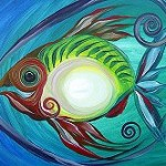 Parrot Fish   Modern Abstract Fish Art Artwork Paintings J Vincent Scarpace