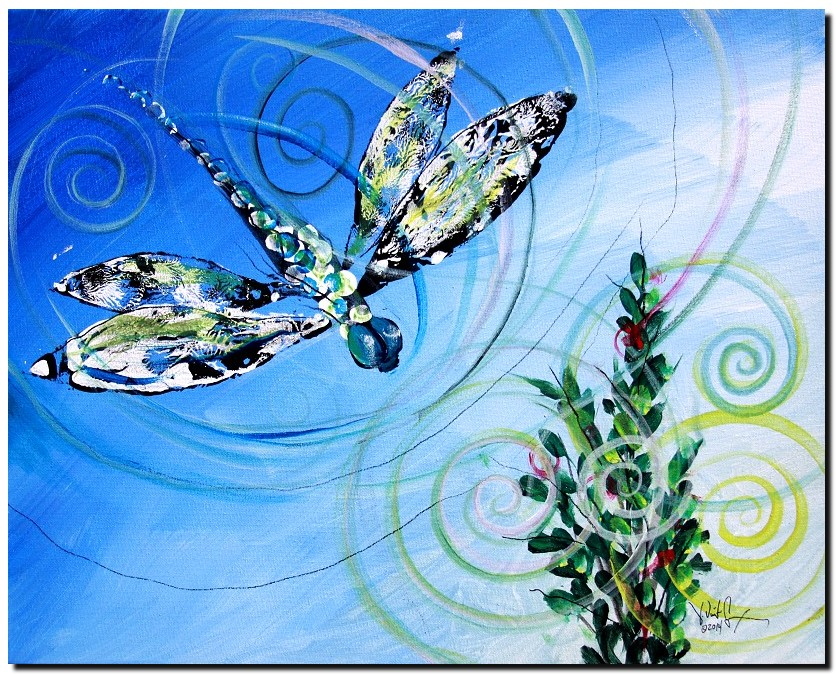 Pomegranate Home  Modern Abstract Fish Art Artwork Paintings J Vincent Scarpace