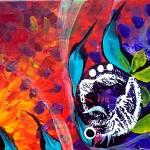 Impending Impression  Modern Abstract Fish Art Artwork Paintings J Vincent Scarpace