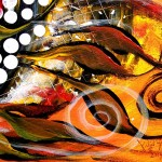 Diablo Fish   Modern Abstract Fish Art Artwork Paintings J Vincent Scarpace