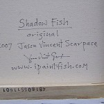 Shadow Fish  Modern Abstract Fish Art Artwork Paintings J Vincent Scarpace