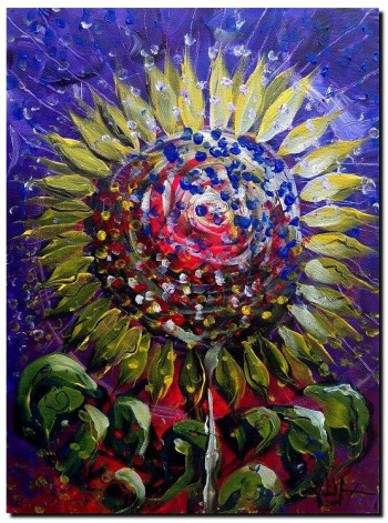 Sinflower by Moonlight  Modern Abstract Fish Art Artwork Paintings J Vincent Scarpace