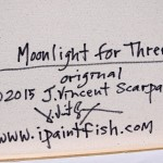 Moonlight for Three  Modern Abstract Fish Art Artwork Paintings J Vincent Scarpace