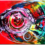 Abstract Dream  Premium Collection Original Modern Abstract Fish Art Artwork Paintings J Vincent Scarpace