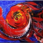 Chumpacabra Fish  Modern Abstract Fish Art Artwork Paintings J Vincent Scarpace