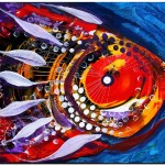 Prevalent Moniker  Modern Abstract Fish Art Artwork Paintings J Vincent Scarpace