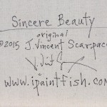 Sincere Beauty  Modern Abstract Fish Art Artwork Paintings J Vincent Scarpace