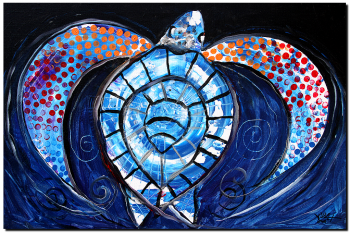 Night Stalker  Modern Abstract Fish Art Artwork Paintings J Vincent Scarpace
