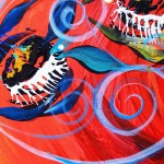 Three Positive Progress  Modern Abstract Fish Art Artwork Paintings J Vincent Scarpace