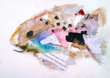 Collage Fish Scatter  Modern Abstract Fish Art Artwork Paintings J Vincent Scarpace
