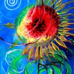 Life Flower One  Modern Abstract Fish Art Artwork Paintings J Vincent Scarpace