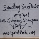 Swindling Sunflower  Modern Abstract Fish Art Artwork Paintings J Vincent Scarpace