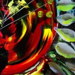 Deconstructed Sunflower   Modern Abstract Fish Art Artwork Paintings J Vincent Scarpace