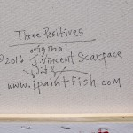 Three Positives  Modern Abstract Fish Art Artwork Paintings J Vincent Scarpace
