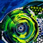 Abstract Blue Grouper   Modern Abstract Fish Art Artwork Paintings J Vincent Scarpace